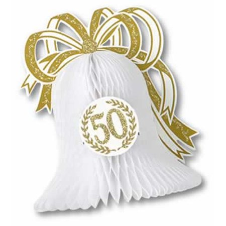 50th Anniversary Party Tissue Bell Centerpiece](50th Centerpieces)