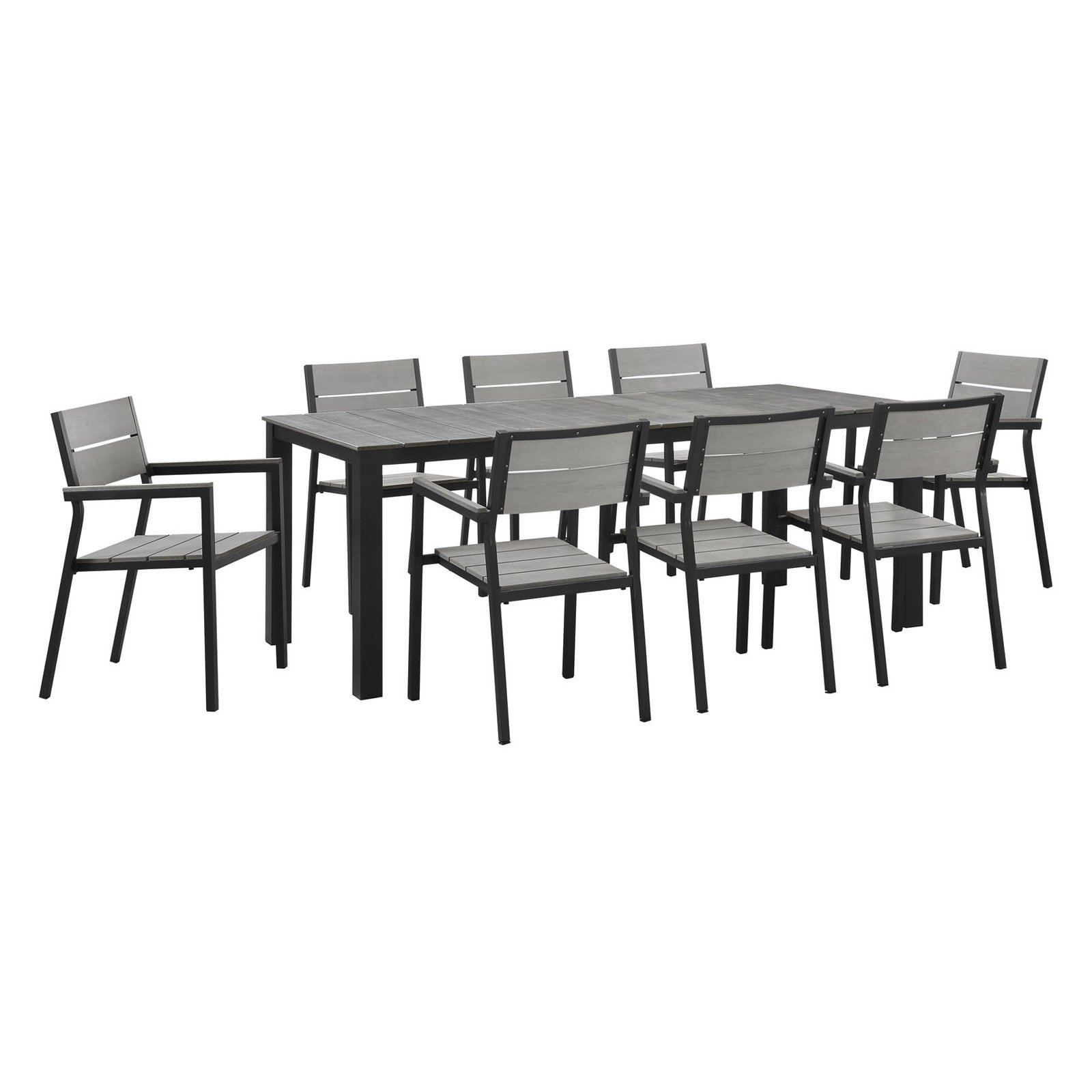 9 piece outdoor dining set cheap modway maine 9piece outdoor patio dining set multiple colors