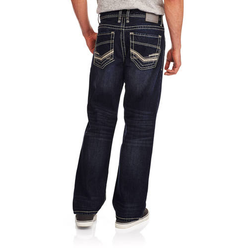 Faded Glory Men's Embellished Denim Jeans by