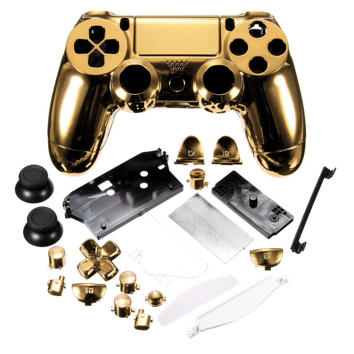 M.way Chrome Plating Housing Shell Case Full Mod Kits for Playstation 4 Controller Dual... by