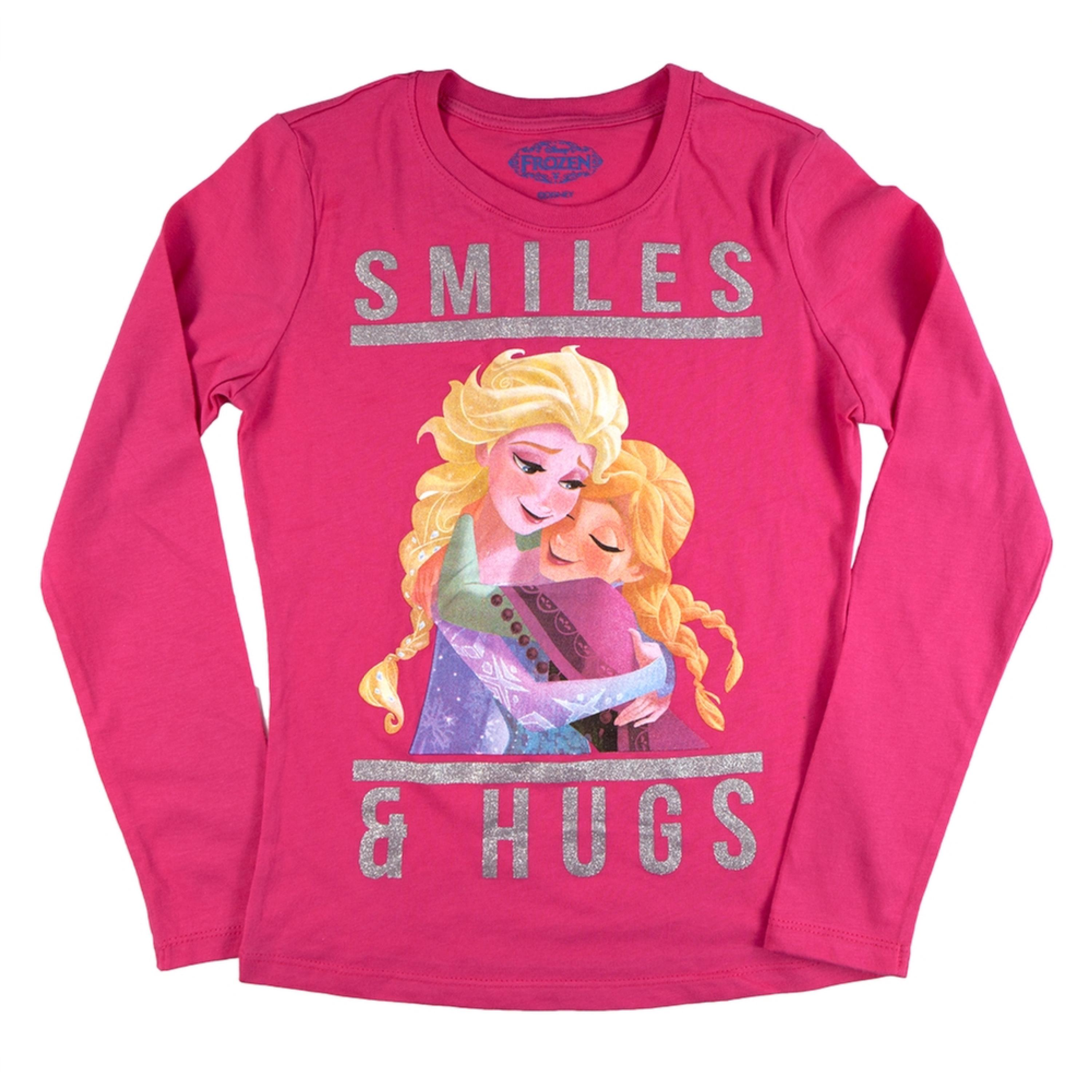 Frozen - Smiles & Hugs Girls Youth Long Sleeve T-Shirt