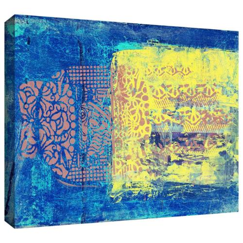 ArtWall Elena Ray 'Blue With Stencils' Gallery-wrapped Canvas Art by Overstock