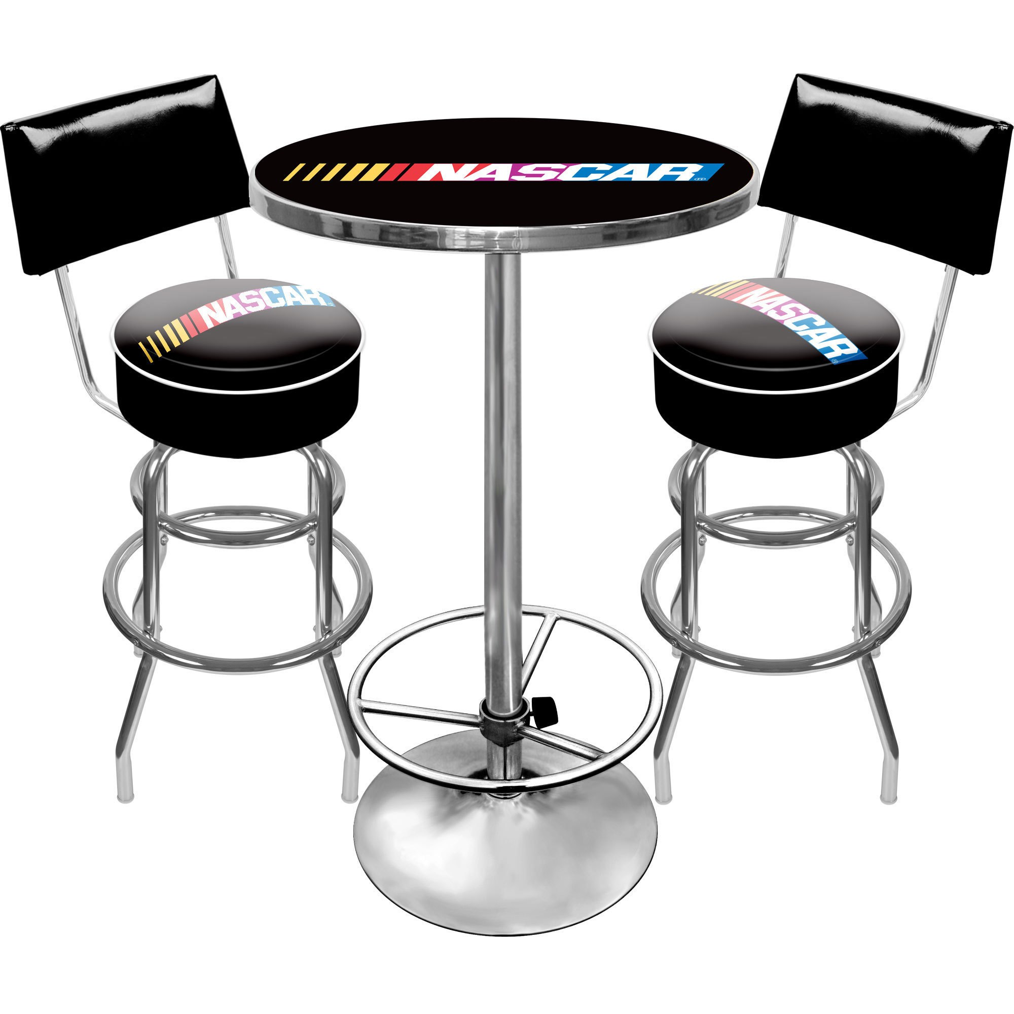 Nascar gameroom combo 2 bar stools and table home game room man cave dining new