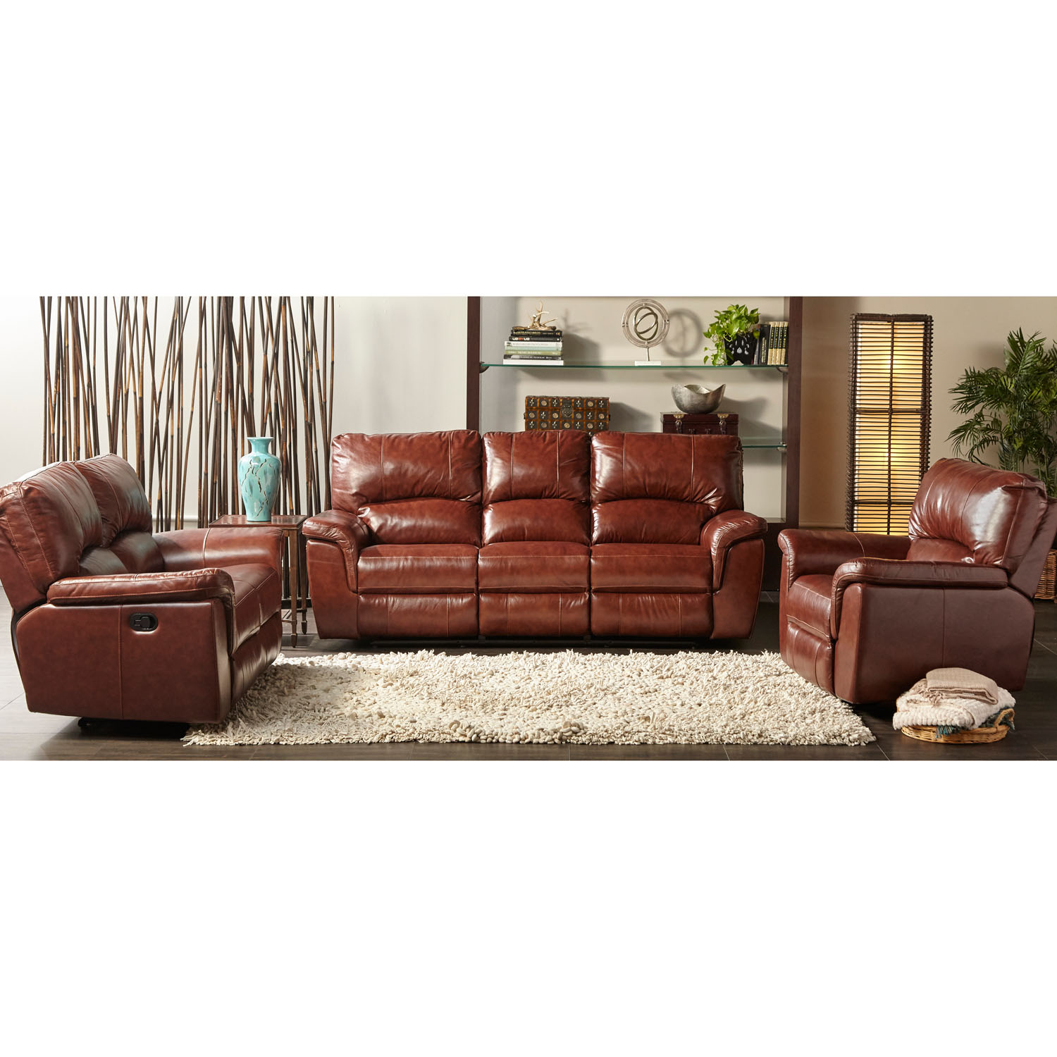Cambridge Charleston Power Double Reclining Leather Sofa