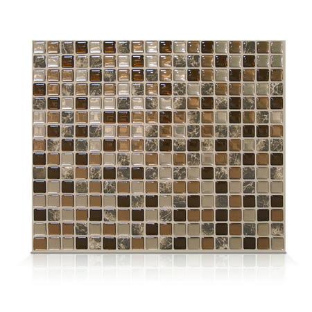 Smart Tiles 11.55 in x 9.64 in Peel and Stick Self-Adhesive Mosaic Backsplash Wall Tile - Minimo Roca (each)