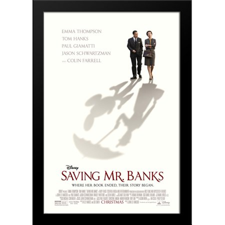 Saving Mr  Banks 28X36 Large Black Wood Framed Movie Poster Art Print