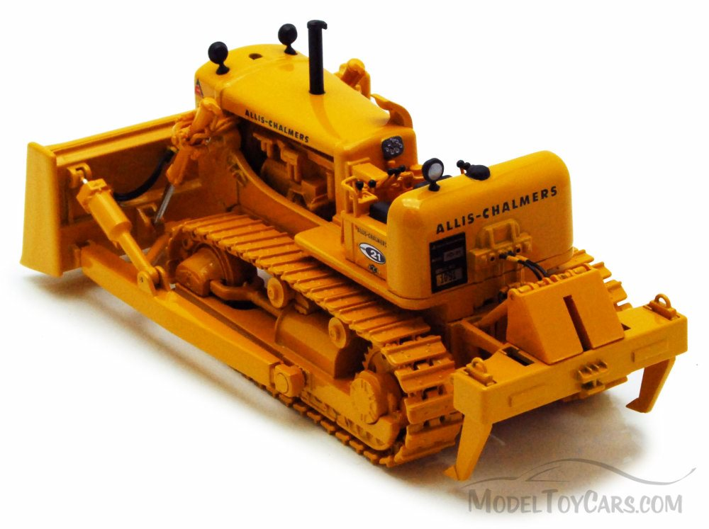 Allis-Chalmers HD-21 Crawler w/ Blade & Ripper, Yellow - First Gear - 1/50  scale diecast model car