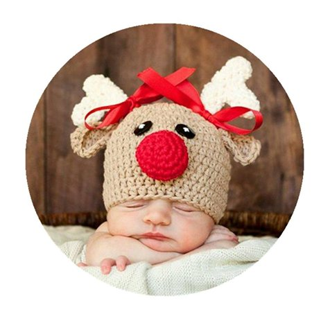 836868543 newborn baby photo props outfits crochet deer hat for boys girls  photography shoot