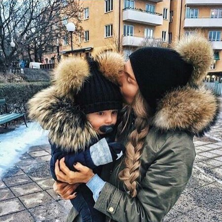 2PCS Mommy and Me Hat Winter Warmer Mother & Baby Daughter/Son Parent-Child Winter Warm Knit Hat Family Crochet Beanie Ski Cap Next Century Cap