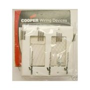 Cooper 5152W White Unbreakable Two Gang Decorator Wall Plate