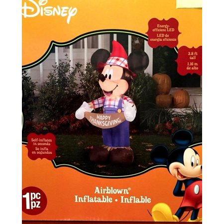 Halloween Yard Art (Mickey Mouse Scarecrow Airblown Inflatable Halloween Yard Art Lawn)