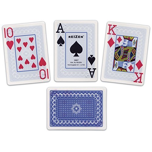 Reizen Braille Jumbo Print Playing Cards- One Deck