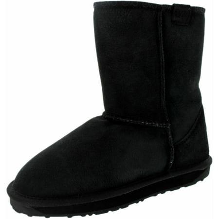 Emu Women's Stinger Lo Black Ankle-High Sheepskin Boot - 8M