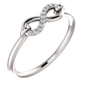 Platinum .04 CTW Diamond Infinity-Inspired Ring by