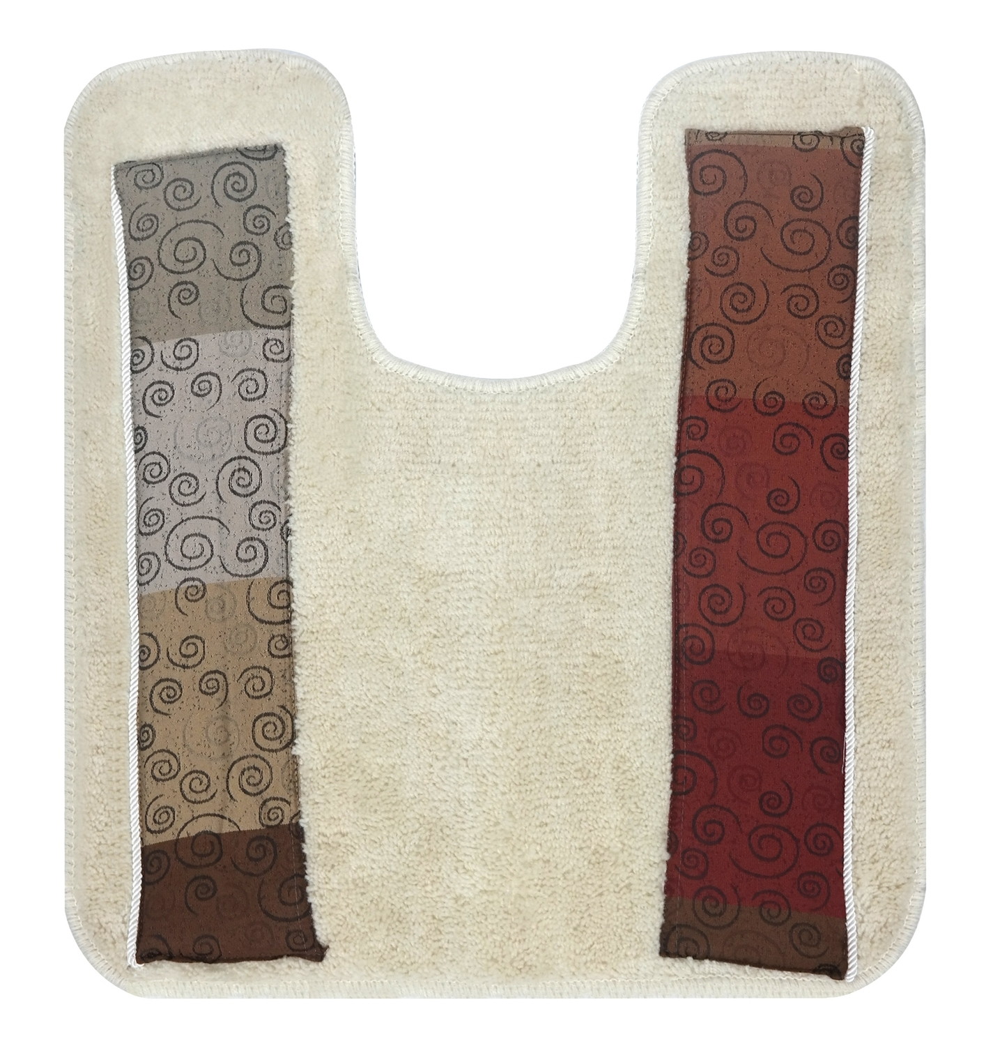 Popular Bath Miramar Bath Collection Bathroom Contour Toilet Commode Rug