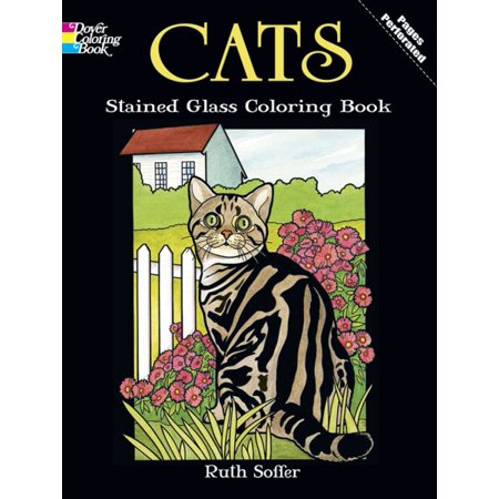Cats Stained Glass Coloring Book](Stained Glass Coloring Pages)