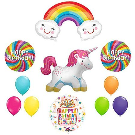 The Ultimate Rainbow Swirl Happy Birthday Full Body Unicorn Party Supplies