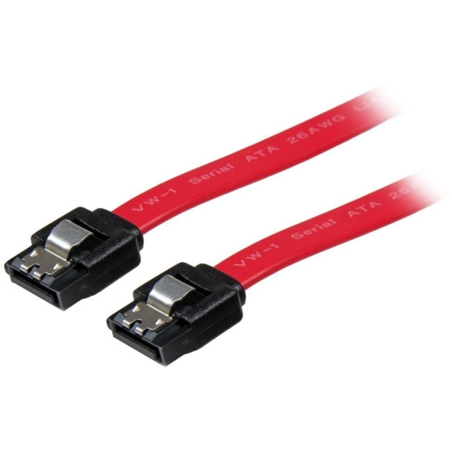 StarTech Latching SATA Cable - Male SATA - Male SATA - 12 - Red