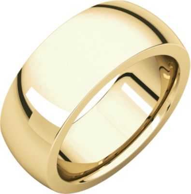 Roy Rose Jewelry 18K Yellow Gold 8mm Wide Heavy Comfort Fit Wedding Band Ring Size 11.5