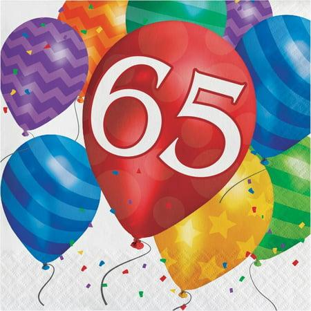 Creative Converting Balloon Blast 65th Birthday Napkins, 16 ct - 65th Birthday Party Ideas