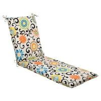 """72.5"""" Sun-n-Shade Summer Flower Outdoor Patio Chaise Lounge Cushion"""
