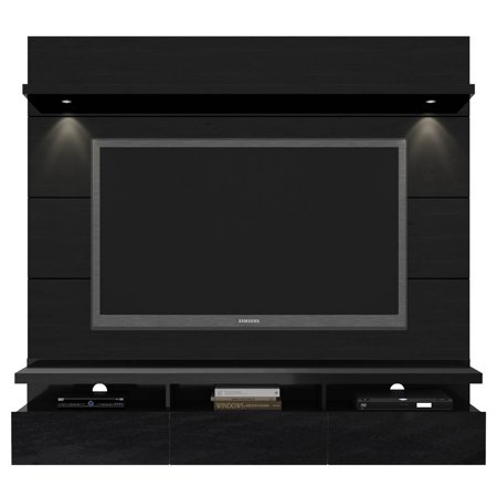 67.24 in. TV Entertainment Center in Black