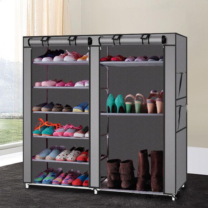Beau Ktaxon Portable Shoe Rack Boot Shelf Shelves Storage Closet Organizer  Cabinet W/ Cover