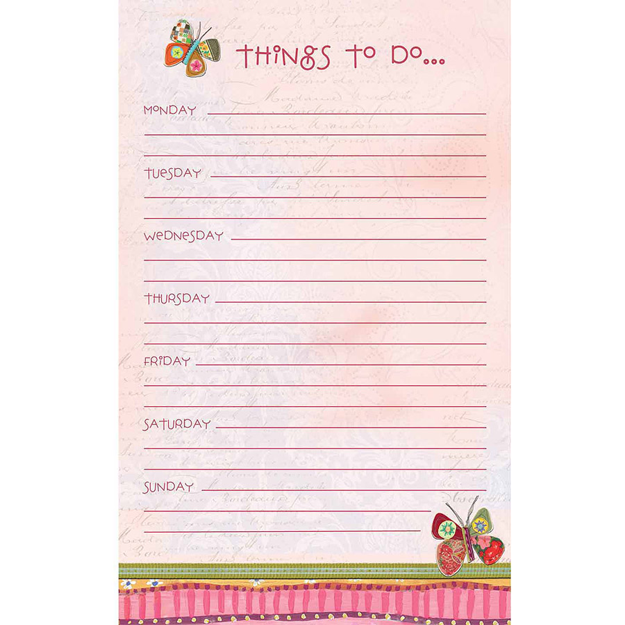 Wsbl Fly Away Wsbl Weekly Planner Pad