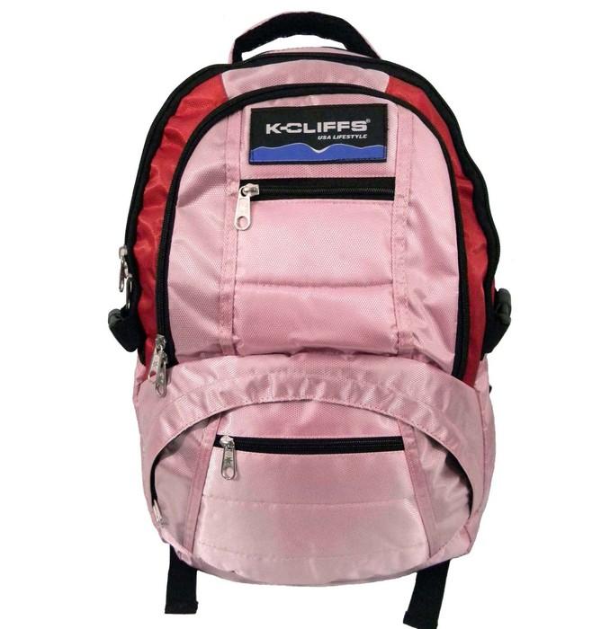 "K-Cliffs Deluxe Dobby Nylon Laptop Backpack (fits 15"" Laptop) Navy"