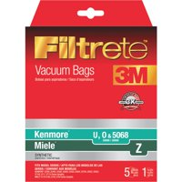 3M Filtrete Vacuum Bag For Kenmore U, O, 5068/Miele Z 5 pk - Case Of: 1; Each Pack Qty: 5; Total Items Qty: 5