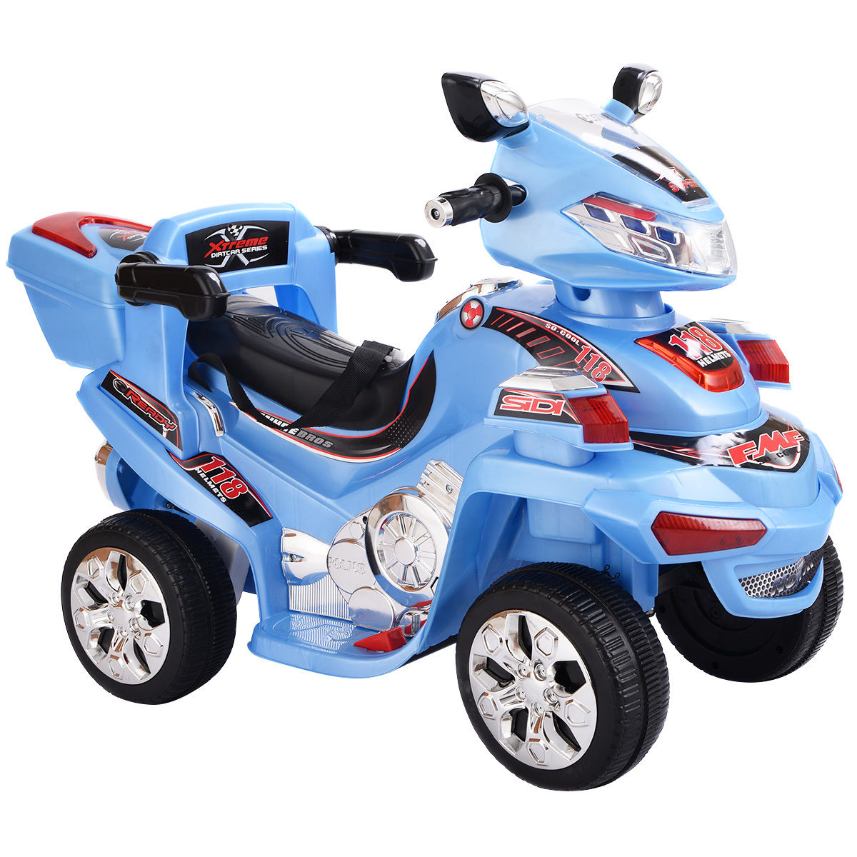 Costway 4 Wheel Kids Ride On Motorcycle 6V Battery Powered R C Electric Toy Power Bicyle... by Costway