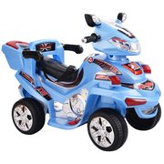 Costway 4 Wheel Kids Ride On Motorcycle 6V Battery Powered R C Electric Toy Power Bicyle Blue by Costway