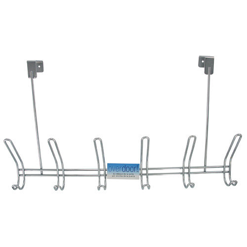 InterDesign Classico Over the Door Rack with 6 Double Hooks