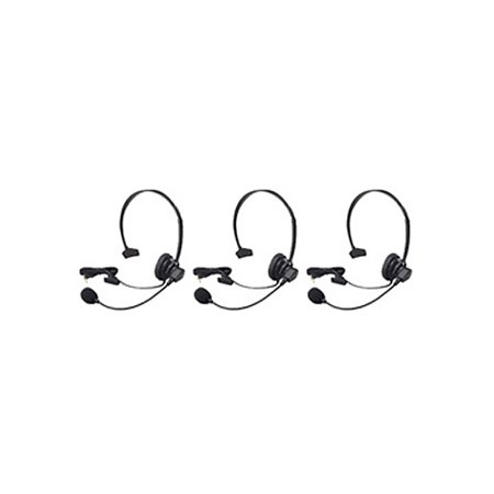 Noise Canceling Head (Panasonic KX-TCA60 Over the Head Headset W/ Noise-Canceling Microphone 3 Pack)