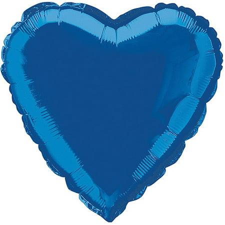 Blue Foil Heart - Foil Balloon, Heart, 18 in, Royal Blue, 1ct