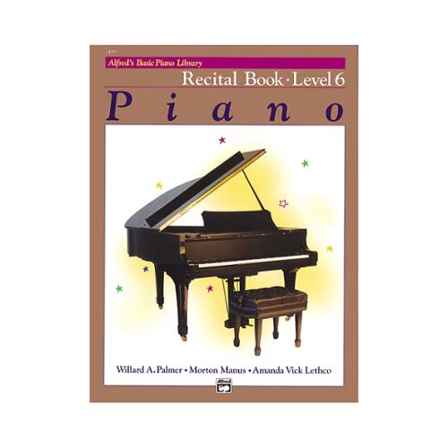 Alfred 00-2499 Basic Piano Course- Recital Book 6 - Music Book