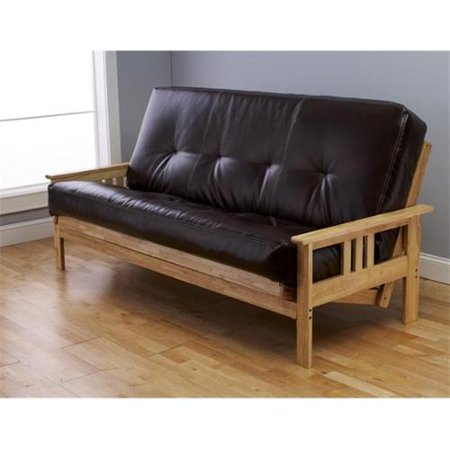 Monterey Wooden Futon Sofa With Oregon Trail Java Mattress