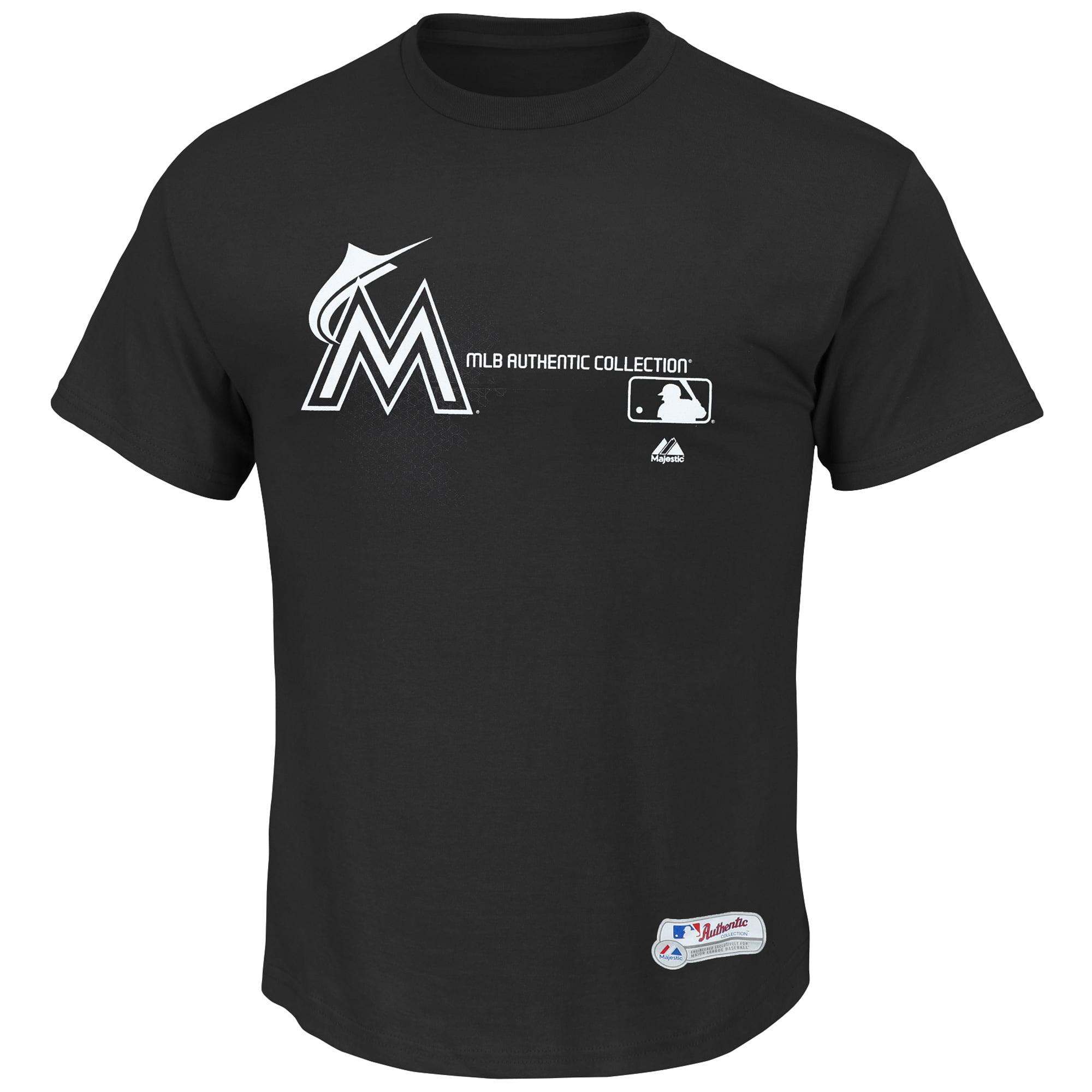 Men's Majestic Black Miami Marlins Change T-Shirt