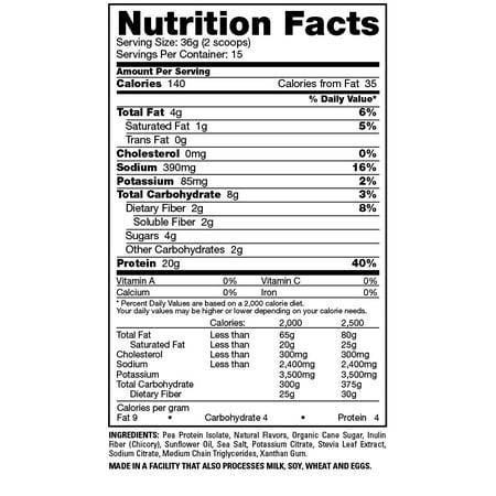 Naturade Vegansmart Pea Protein Powder, Vanilla, 15 Serving