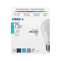 CREE - 75W Equivalent Daylight (5000K) A19 Dimmable LED Light Bulb