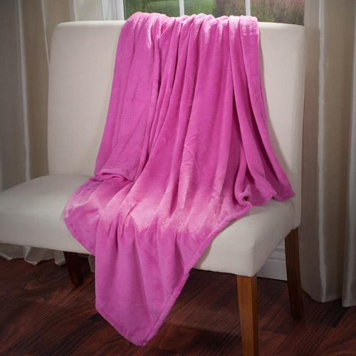 Everyday Home Soft Velvet Fleece Throw Blanket