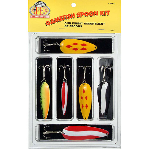 Apex 6pc Bass/Pike Gamefish Spoon Kit