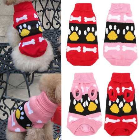 Dog Claw Knit Sweater Pet Winter Clothes Puppy Cat Coat Hoodie Costume Apparel Christmas  Gifts for $<!---->