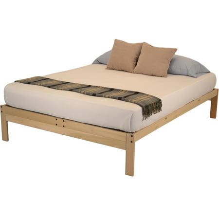 nomad 2 platform bed by kd frames solid hardwood bed frame multiple sizes all natural made. Black Bedroom Furniture Sets. Home Design Ideas