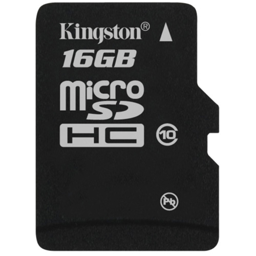 Class 4 . Professional Kingston 16GB MicroSDHC Card for Alcatel 310 Smartphone with custom formatting and Standard SD Adapter.