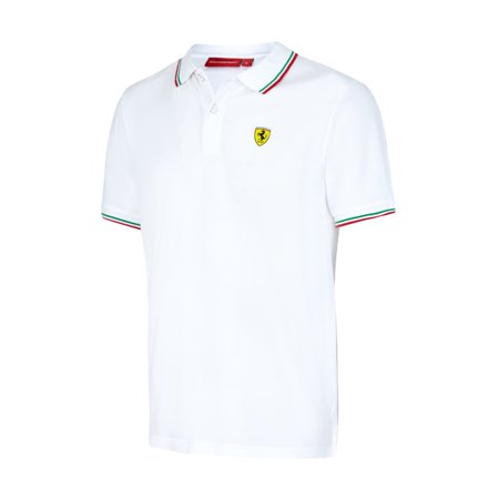 Ferrari White Tipped Polo Shirt