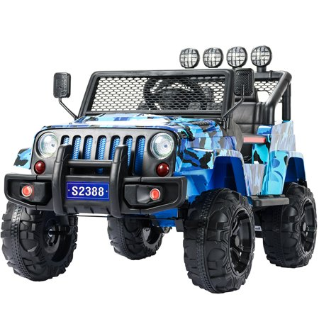 Electric Vehicles For Kids >> Uenjoy Kids Ride On Cars 12v Electric With Remote Control Motorized Vehicles 2 Speed Camouflage Blue