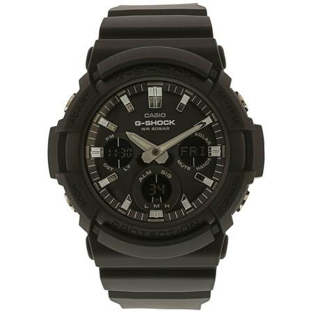 Bug Watch - Casio 2018 GAS100B-1ACR Watch G-SHOCK NEW BIG CASE SOLAR BLACK IP BLACK BEZEL