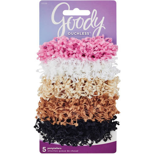 Goody Ouchless Hair Scrunchies, 5 count
