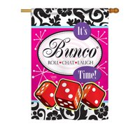 Breeze Decor It's Bunco Time 2-Sided Vertical Flag
